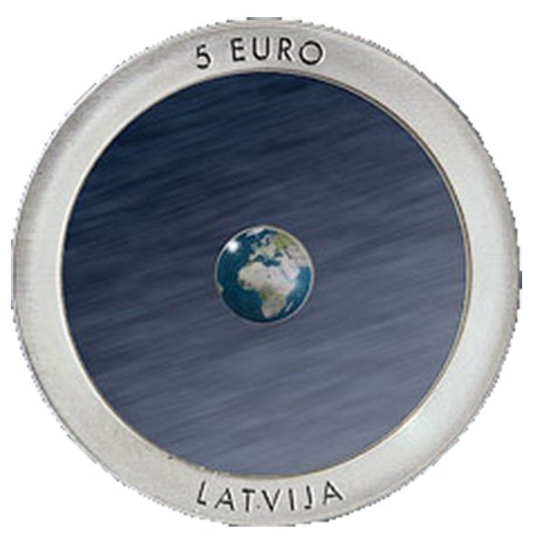 Latvia 2015 5 euro Earth Proof Silver Coin