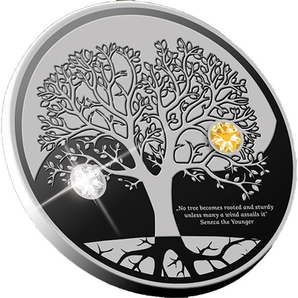 The Tree of Life Proof Silver Coin 500 Francs CFA Cameroon 2019