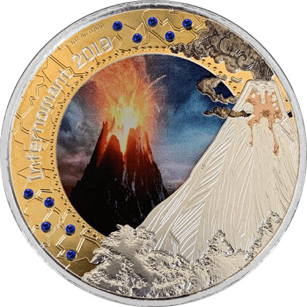 Infernomant 2019 Treasures of the Blue Planet 1 oz BU Silver Coin 5 Cedis Republic of Ghana 2019