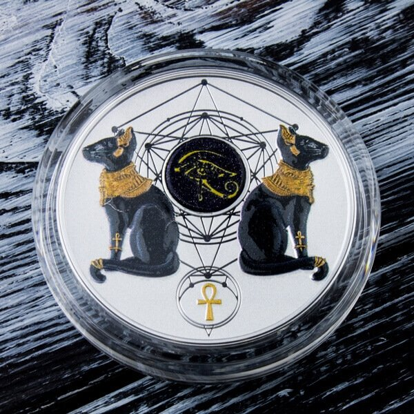 Eye of Horus 2oz Proof Silver Coin 2$ Niue 2018