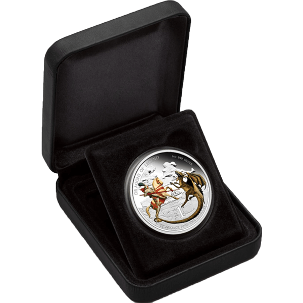 St. George and the Dragon 2012 Dragons of Legend Proof Silver Coin 1$ Tuvalu 2012