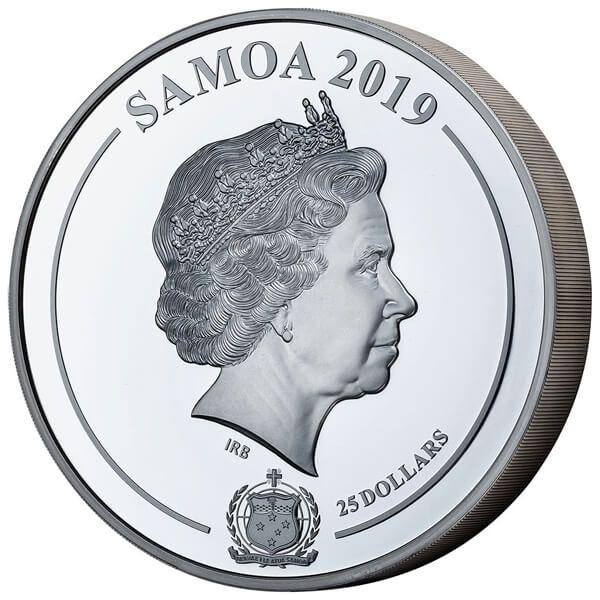 Grace Kelly - Shadow Minting 1 Kilo Proof-like Silver Coin 25$ Samoa 2019