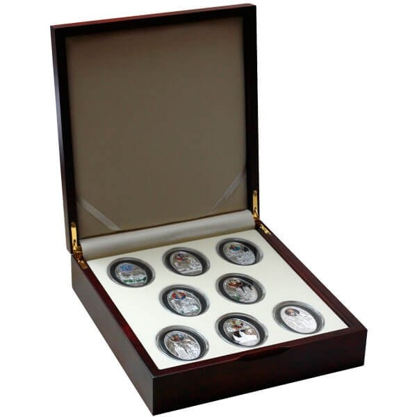 Gothic cathedrals Proof Silver Set 8x1$ Niue 2011