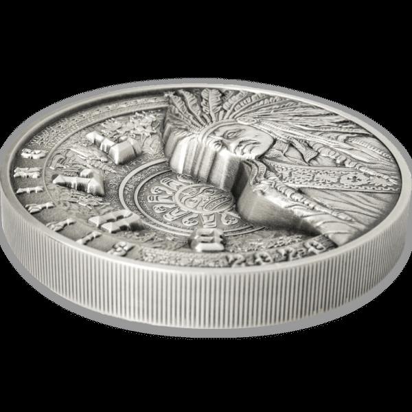 Sitting Bull Multilayer Kilo Coin 1 Kilo Antique finish Silver Coin 25$ Samoa 2020