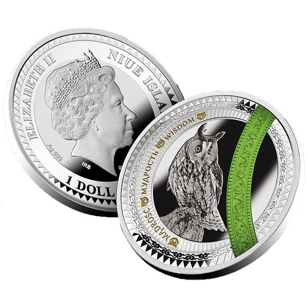 Wisdom The World of Your Soul Proof Silver Coin 1$ Niue 2017