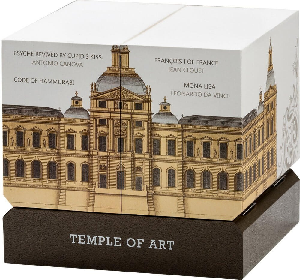 Temple of Art 3 oz Proof Silver Coin 15$ Niue 2016