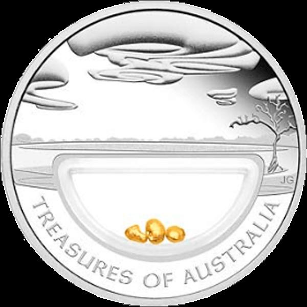 Australia 2010 1$ Gold Nuggets Treasures of Australia Proof Silver Coin