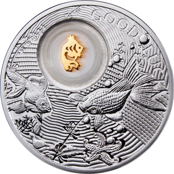 Goldfish Lucky Coins II Proof Silver Coin 2$ Niue 2013