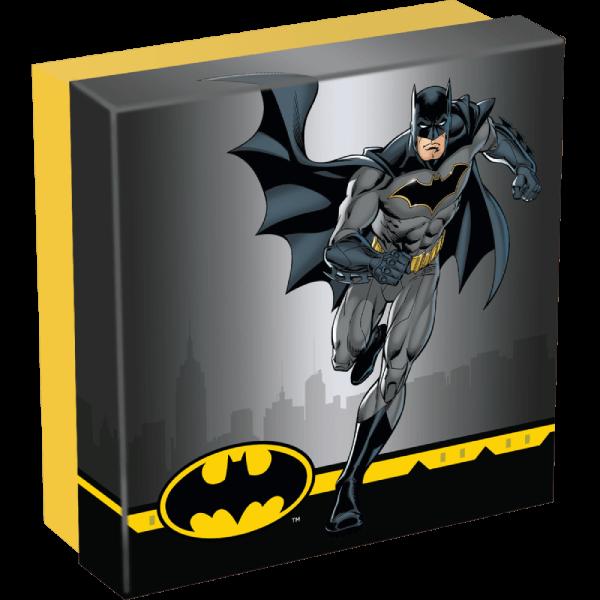 Batman 2 oz Antique finish Silver Coin 10$ Cook Islands 2021
