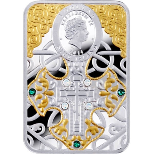 Icon of Pochaev Mother of God Proof Silver Coin 1$ Niue 2014