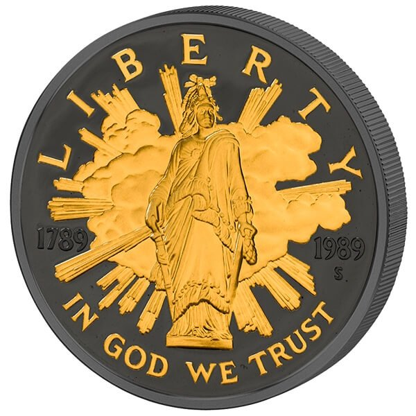 Commemorative Golden Enigma Edition 2017 Proof Silver Set United States 4x1$ 1986 - 1989
