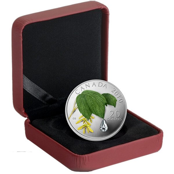 Canada 2010 20$ Maple Leaf Crystal Raindrop (2010) Proof Silver Coin