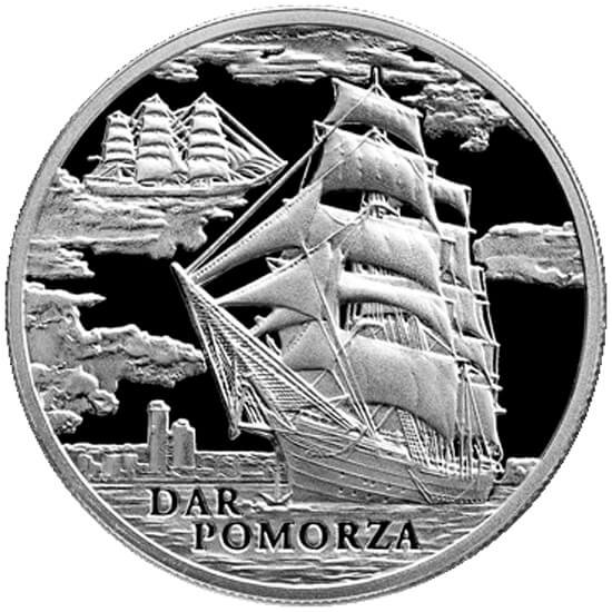 Belarus 2009 20 rubles Dar Pomorza BU Silver Coin