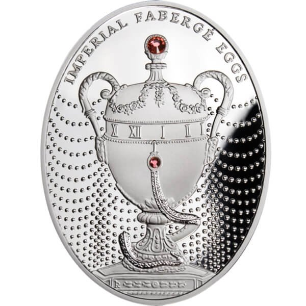 The Duchess of Marlborough Egg Imperial Fabergé Eggs Proof Silver Coin 2$ Niue 2011