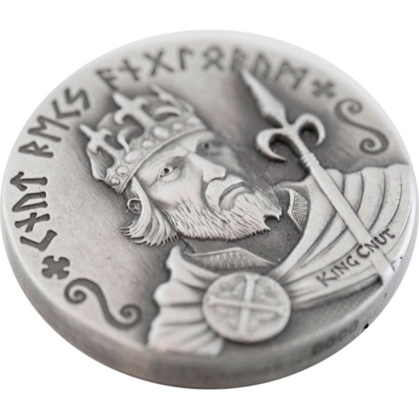 Niue 2015 2$ KING CNUT  Vikings Gods Kings Warriors  2oz Antique finish Silver Coin