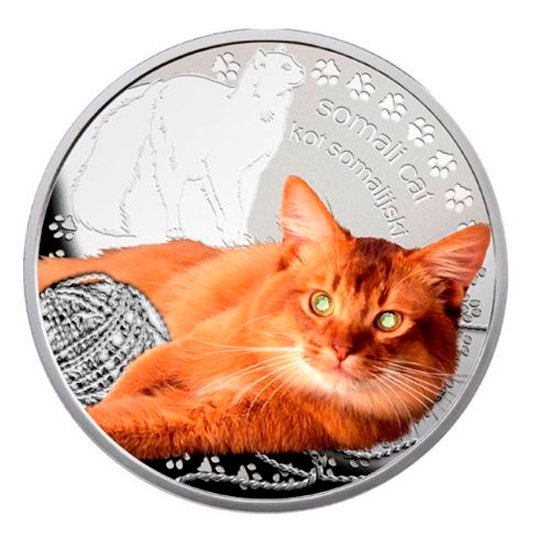 Niue 2015 1$ Somali cat Man's Best Friends – Cats Proof Silver Coin