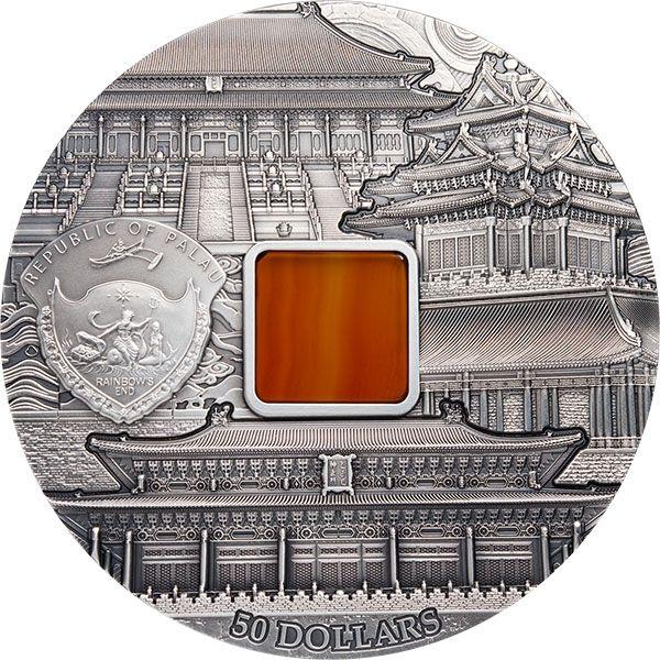 Forbidden City Beijing 1kg Antique finish Silver Coin 50$ Palau 2018