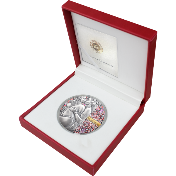 Kama Sutra II Moments of Love 3 oz Antique finish Silver Coin 3000 Francs CFA Cameroon 2020