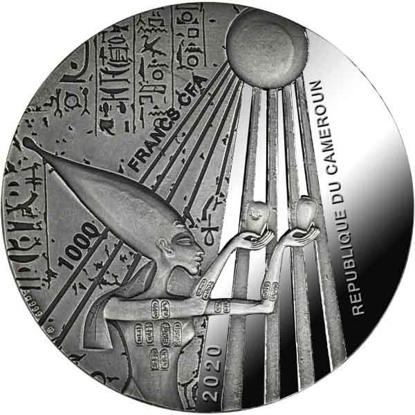Egyptian Ankh 1 oz Proof Silver Coin 1000 Francs CFA Cameroon 2020