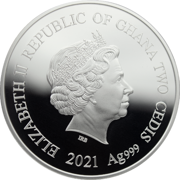 Love Coin Proof Silver Coin 2 Cedis Republic of Ghana 2021