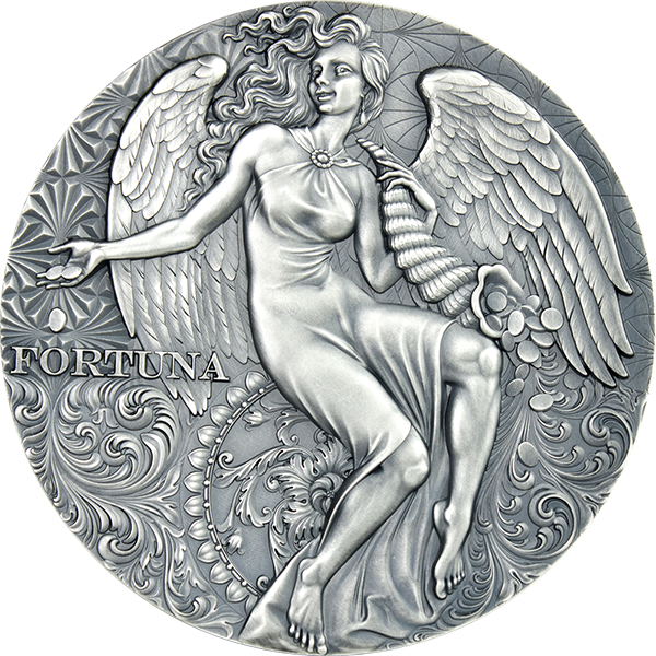 Fortuna Celestial Beauty 2 oz Antique finish Silver Coin 2000 Francs Cameroon 2021