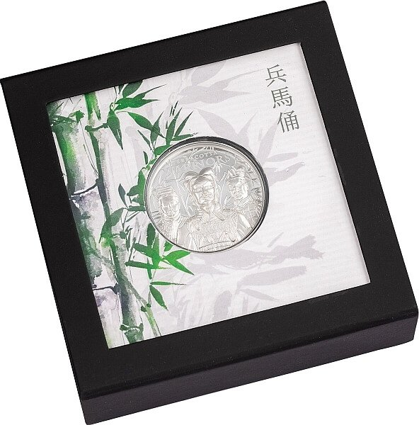 Terracotta Warriors  1 oz Proof Silver Coin 5$ Cook Islands 2021