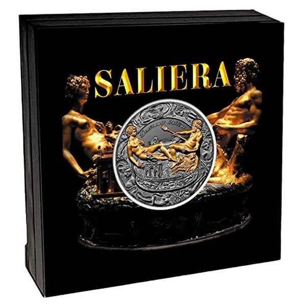 Saliera 2 oz Antique finish Silver Coin 2000 Francs Cameroon 2017