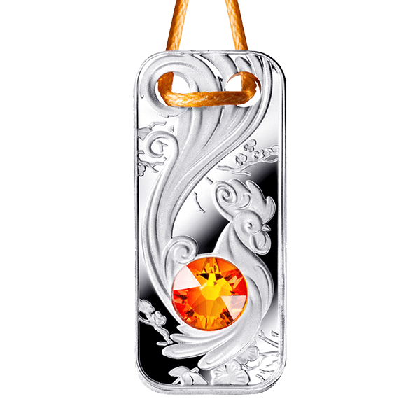 Lunar Year of the Rooster 2017 Coin Pendant Proof Silver Coin 1$ Niue 2017