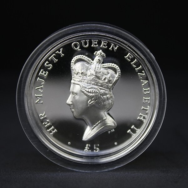 Ascension Islands 2012 5 pounds Diamond Jubilee High Relief Silver Proof Coin