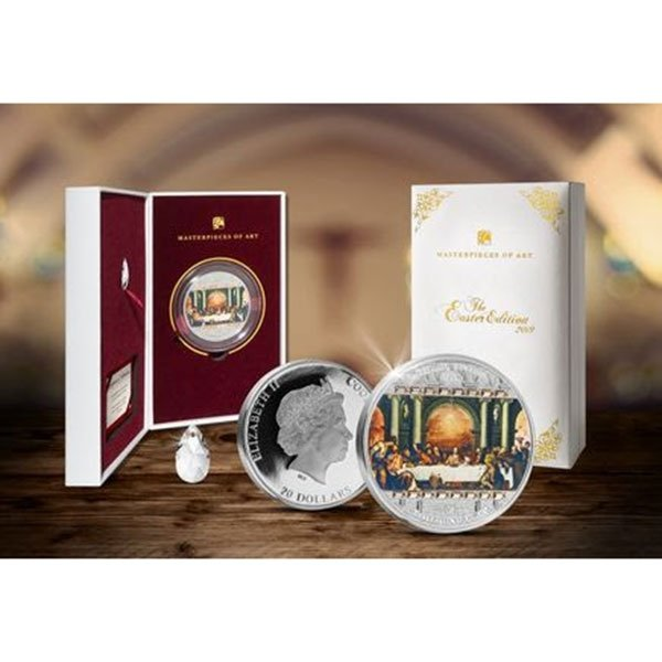 Last Supper Masterpieces of Art Easter Edition  93,3g Proof Silver Coin 20$ Cook Islands 2019