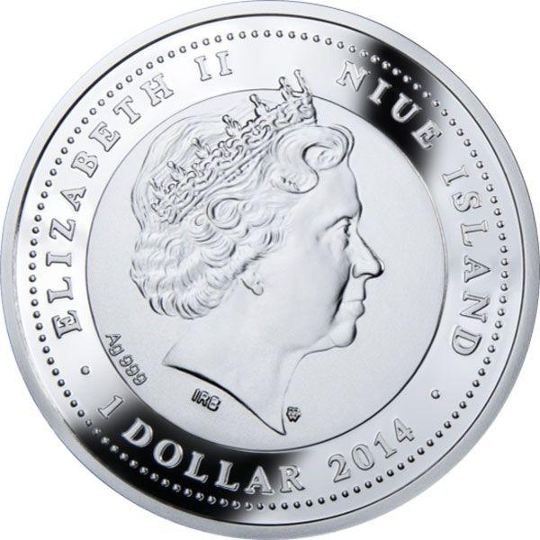 German Shepherd Man's Best Friends Proof Silver Coin 1$ Niue 2014
