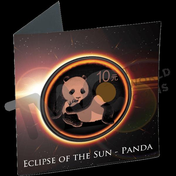 China 2015 10 Yuan PandaEclipse of the Sun BU Silver Coin