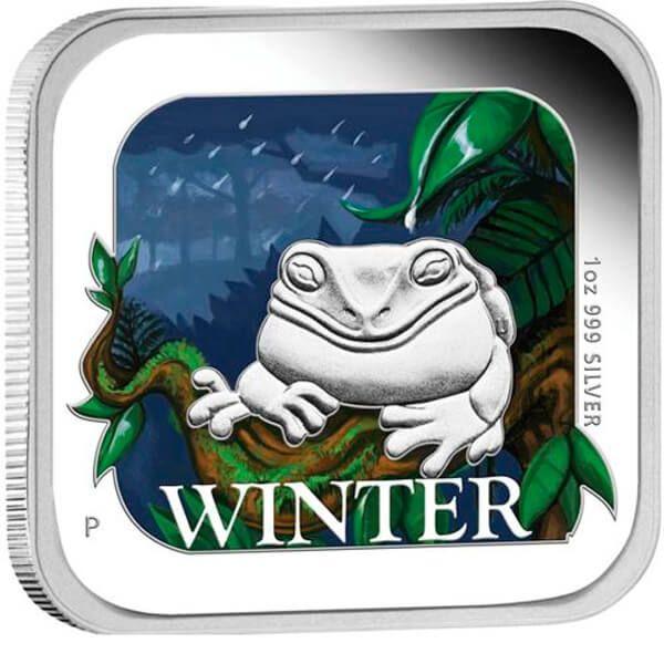 Winter Australian Seasons 1 oz Proof Silver Coin 1$ Australia 2013
