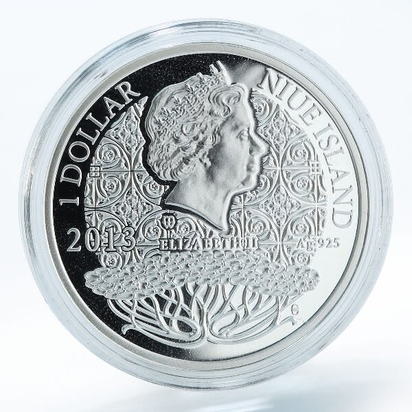 JULY  The Magic Stones of Happiness  Proof silver Coin 1$ Niue 2013