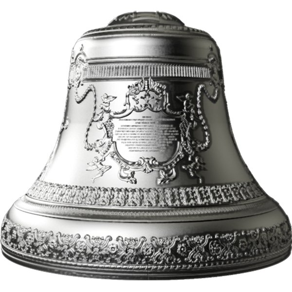 Niue 2017 10$ Tsar Bell 4 oz 3D Bell-Shaped Antique finish Silver Coin