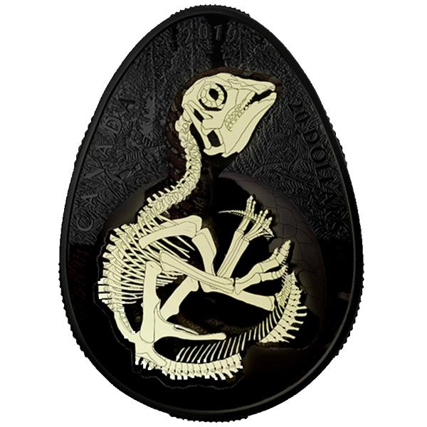 Hatching Hadrosaur 1 oz Proof Silver Coin 20$ Canada 2019