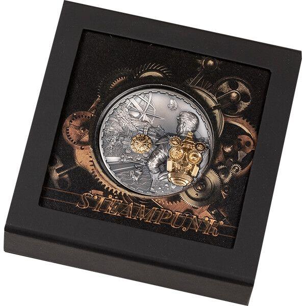 Hominidae Evolution of Life 1oz AntiqueFinish Silver Coin 500 Togrog Mongolia, 2021