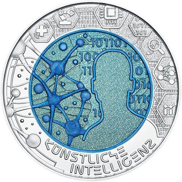 Artificial Intelligence BU Niobium Silver Coin 25 Euro Austria 2019