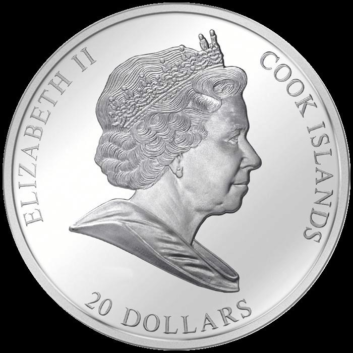"Cook Islands 2012 20$ ""Adele"" Gustav Klimt Masterpieces of Art 3 Oz Proof Silver Coin"