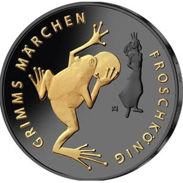 The Frog King Golden Enigma Edition 2018 BU Silver Coin 20 euro Germany 2018