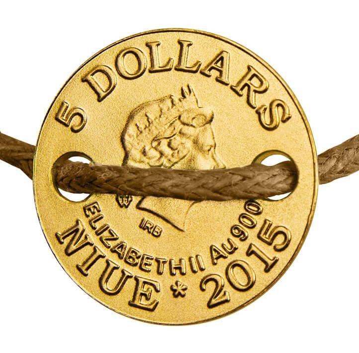 Niue 2015 5$ Horseshoe Small Treasures Proof Gold Coin