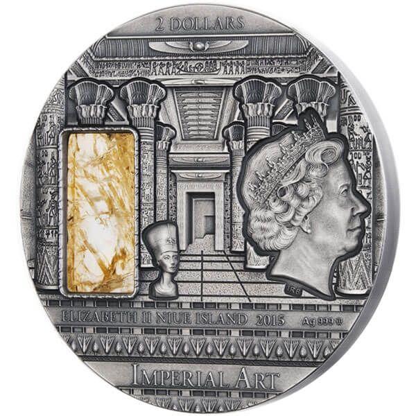 Egypt Imperial Art 2 oz Antique finish Silver Coin 2$ Niue 2015