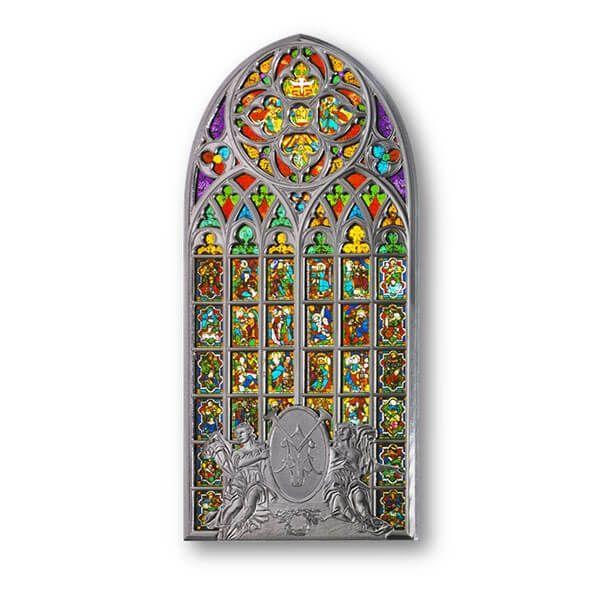 The Basilica of Saint Mary - Window Coin 80g BU Silver Coin 2$ Solomon Islands 2017