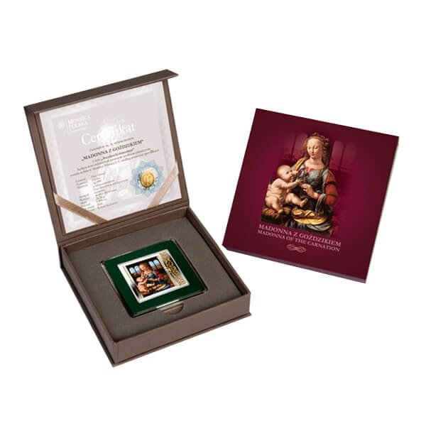 Niue 2014 1$ Masterpieces of the Renaissance  Madonna of the Carnatoin  Proof Silver Coin