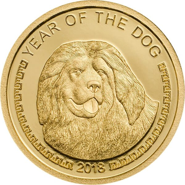 Year of the Dog Proof Gold Coin Mongolia 2018 1000 togrog