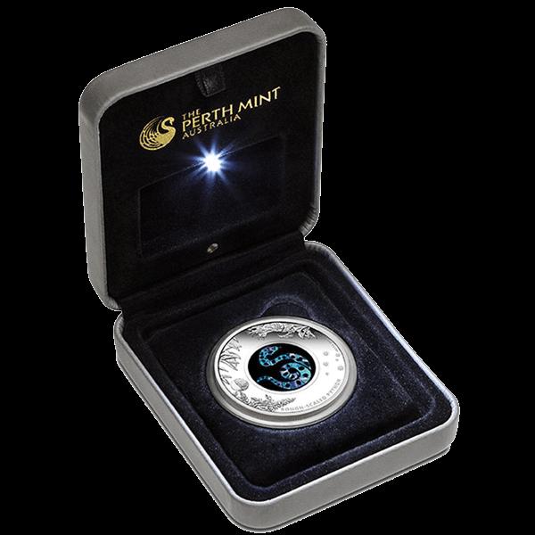 Australia 2015 1$ Rough-Scaled Python  Australian Opal Series Proof Silver Coin
