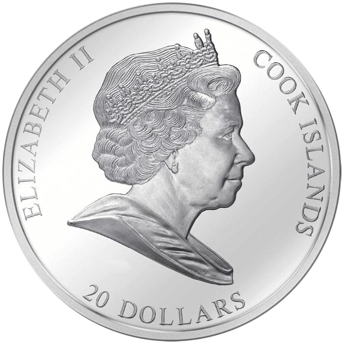 The Virgin Golden Five Proof Silver Coin 1$ Niue 2019