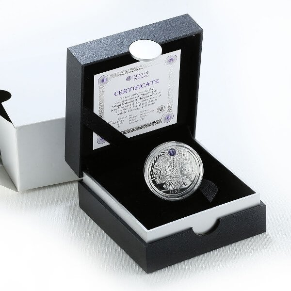 JUNE  The Magic Stones of Happiness  Proof silver Coin 1$  Niue 2013