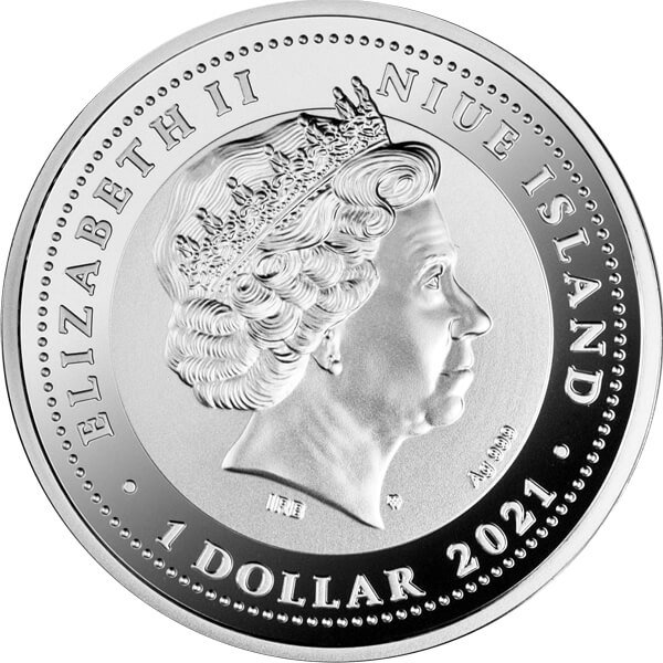Falcon of Tutankhamun Proof Silver Coin 1$ Niue 2021