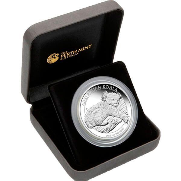 Australia 2012 8$ Australian Koala 2012 5oz Proof Silver Coin